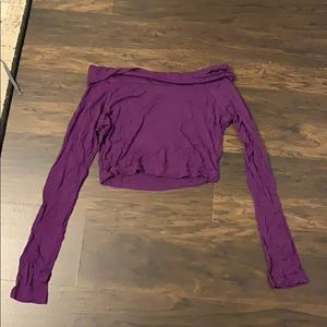 Pretty purple crop top.